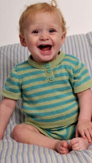 Gratis strikkeopskrifter | Strikket babysæt | Strik og hækling til de mindste | Sødt til baby du selv kan strikke | Håndarbejde