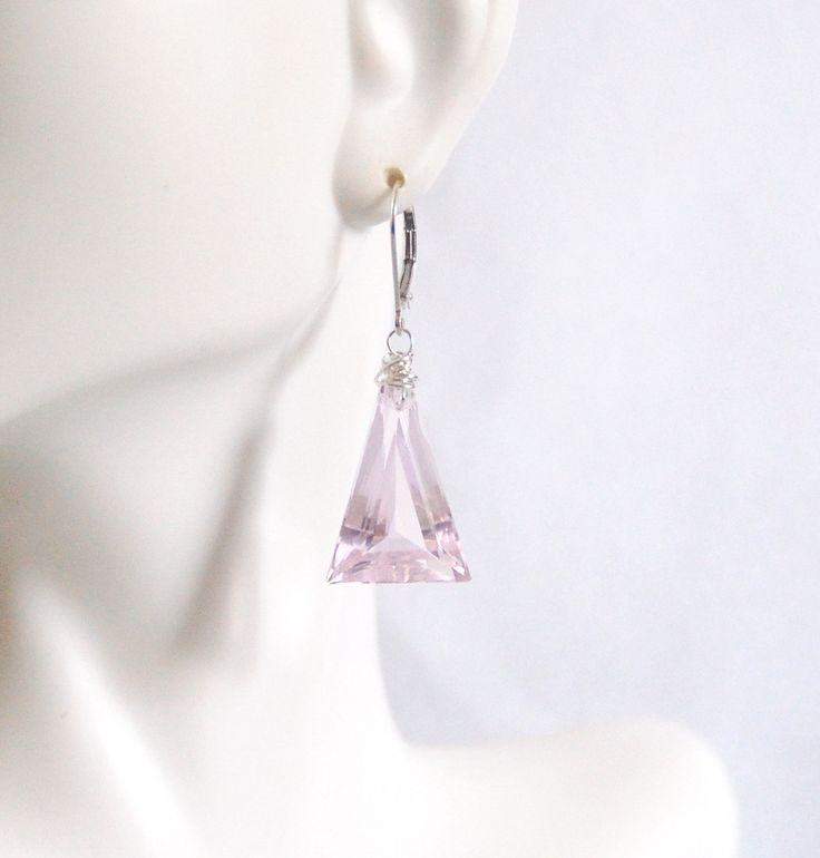Baby Pink  24.49 ct. Kunzite  Dangle Drop Earrings- Fine Jewelry-Wedding Jewelry- Bridal Jewelry -Bridal Accessories- Pink Earring- For her by ferozasjewelry on Etsy
