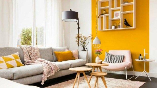 Woonkamer inspiratie kleuren in de woonkamer gele muur frisse