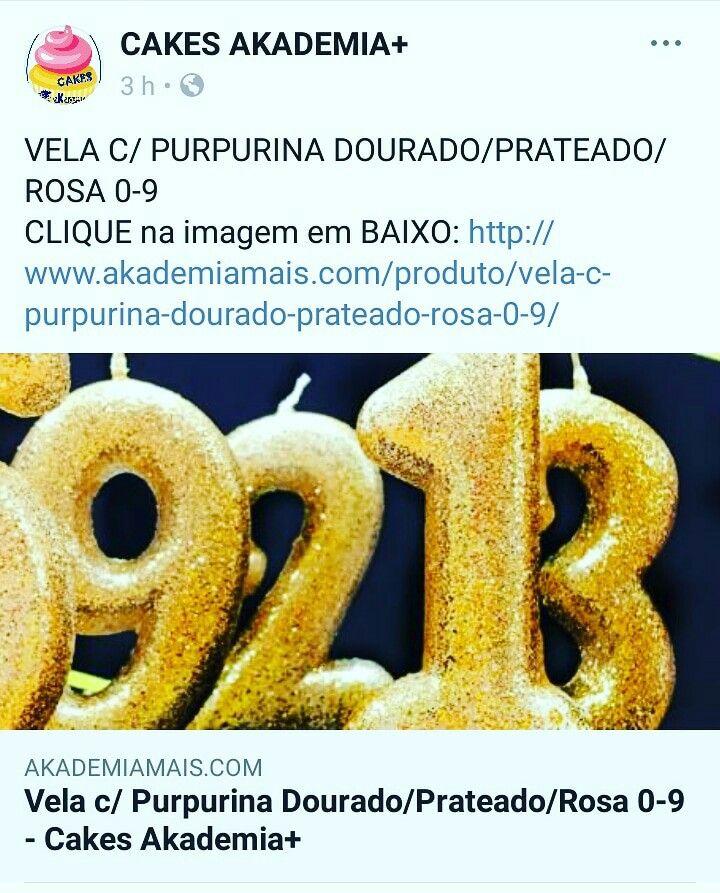 VELA C/ PURPURINA DOURADO/PRATEADO/ROSA 0-9 CLIQUE na imagem em BAIXO: http://www.akademiamais.com/produto/vela-c-purpurina-dourado-prateado-rosa-0-9/