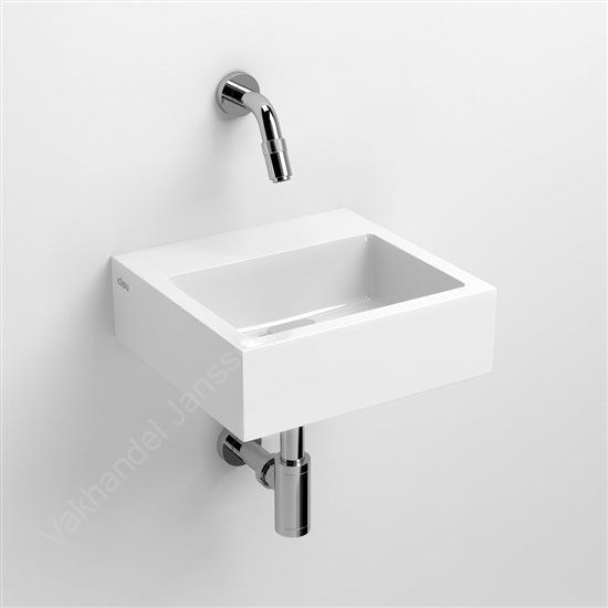 Clou Flush 1 fontein 280x270x90MM marmercomposiet wit