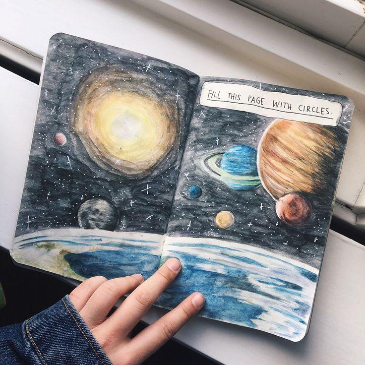 Increible y hermoso dibujo del universo!