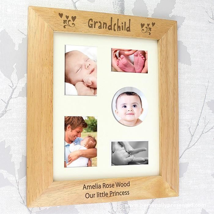 Personalised 10x8 Grandchild Wooden Photo Frame Wooden Photo Frames Personalized Photo Frames Frame