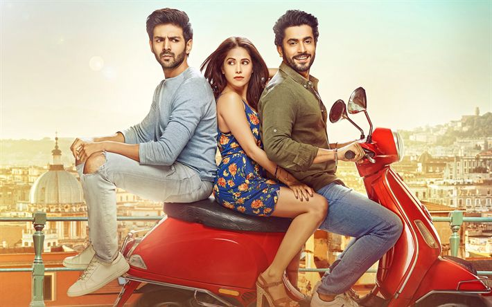 Download wallpapers Sonu Ke Titu Ki Sweety, 4k, 2018 movie, poster, Kartik Aaryan, Nushrat Bharucha, Sunny Singh Nijjar