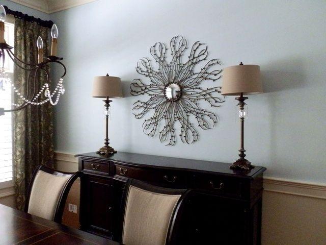 Formal Dining Room Design By Debbe Daley LLC Hooker Estate Sideboard Wall Art Mirror