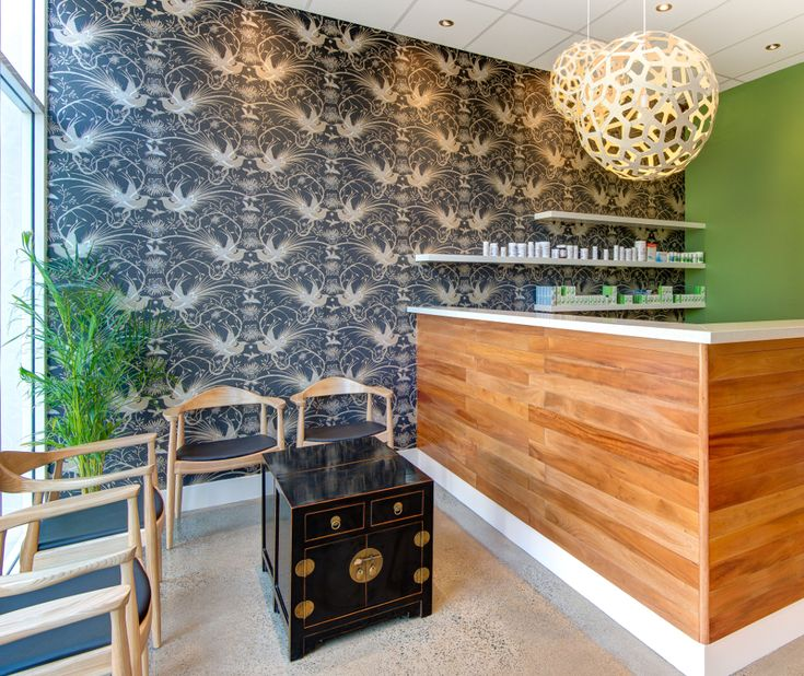 Natural therapy and acupuncture clinic designed on a budget
