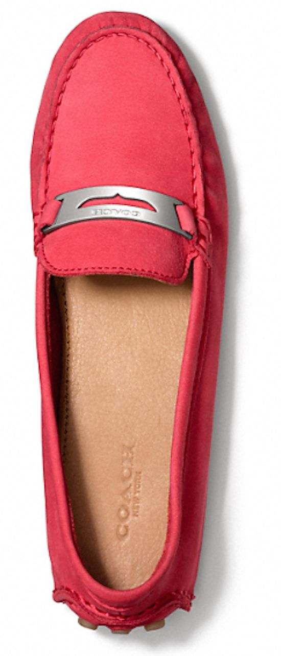 bright #pink Coach loafers http://rstyle.me/n/jt6kzr9te