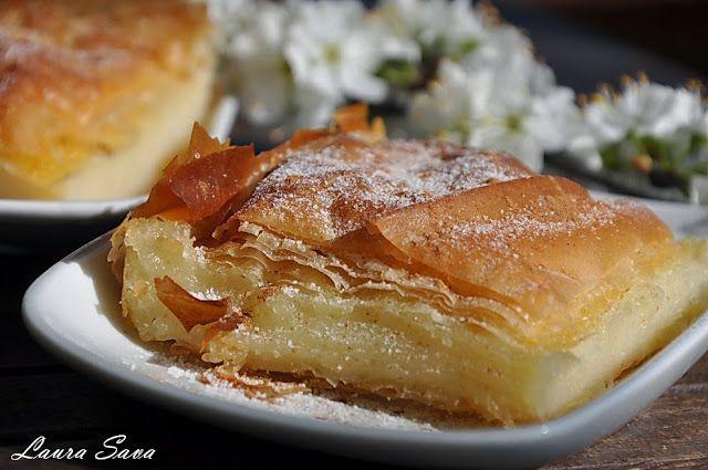 Bougatsa, placinta cu gris de post | Retete culinare cu Laura Sava