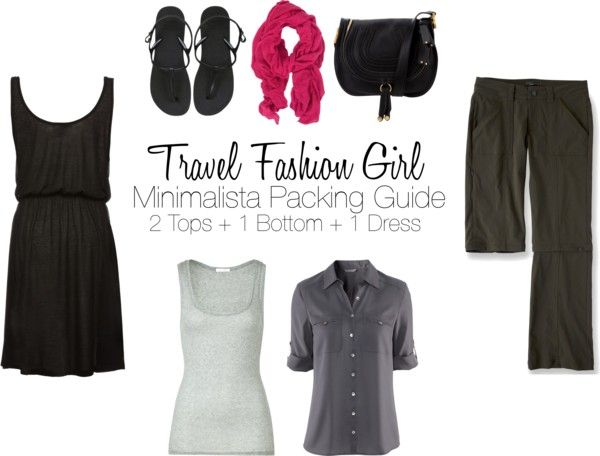 Packing List for Minimalist Travel with 4 clothing items - perfect for a weekend break, overnight trip, or ultra-minimalist travelers
