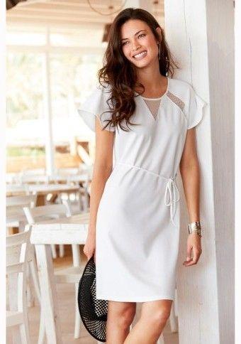 Krátke šaty so sieťovanými vsadkami #ModinoSK