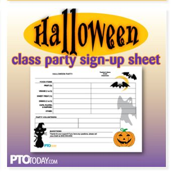 use this parent sign up sheet for your upcoming pto or pta halloween