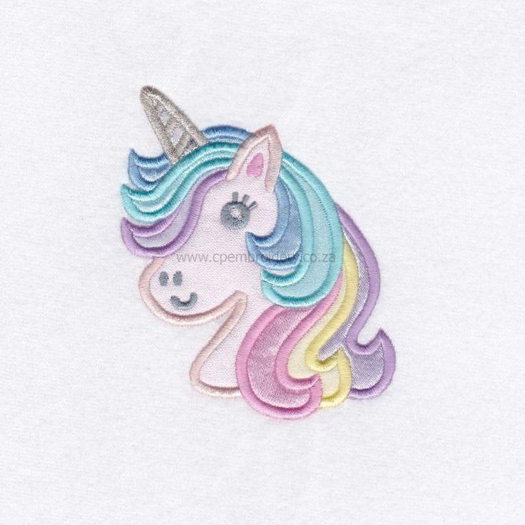 Unicorn Head Appliqué