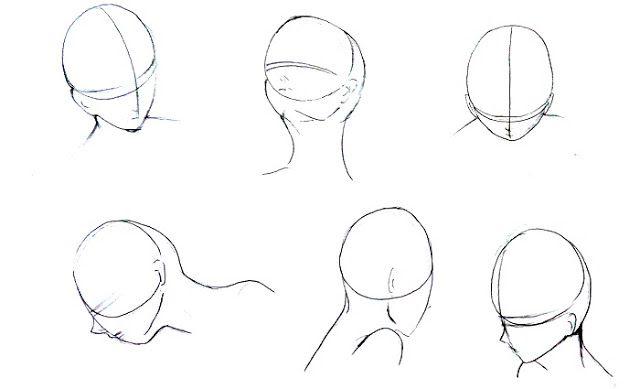 manga head perspective