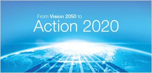 Action 2020 takes Vision 2050 one step further, as a developing framework for action to deliver tangible outcomes by rallying the efforts of businesses to deliver on the economic, environmental and social promises made in Vision 2050.  Action 2020 is one of the WBCSD Council's flagship projects to move from developing thought leadership to driving action.