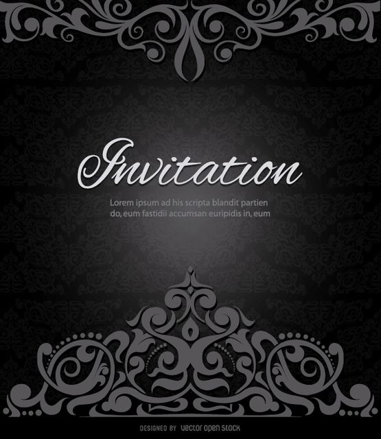 22 best wedding images on pinterest lyrics text messages and texts another elegant vector design for making elegant invitations this one has a swirls crown on stopboris Choice Image