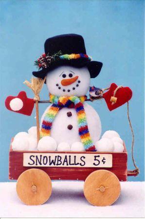 Snowman selling snowballs... so cute
