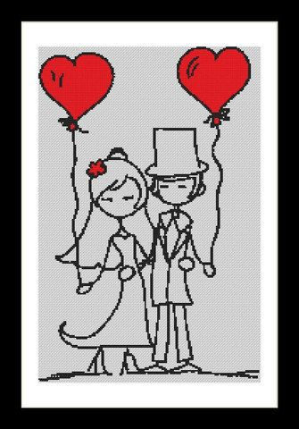 Together Forever wedding Cross Stitch Download by Lovethythreads, £4.00
