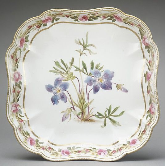 Dish (one of a pair) Derby Decorator: William Billingsley (1758–1828) Date: ca. 1793 Culture: British, Derby Medium: Soft-paste porcelain