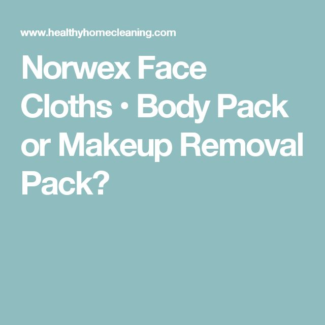 Norwex Face Cloths • Body Pack or Makeup Removal Pack?
