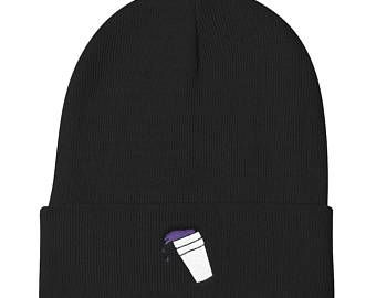 Lean Cup Beanie | Double Cup Cough Syrup Winter Hat, Lil Xan, Drugs