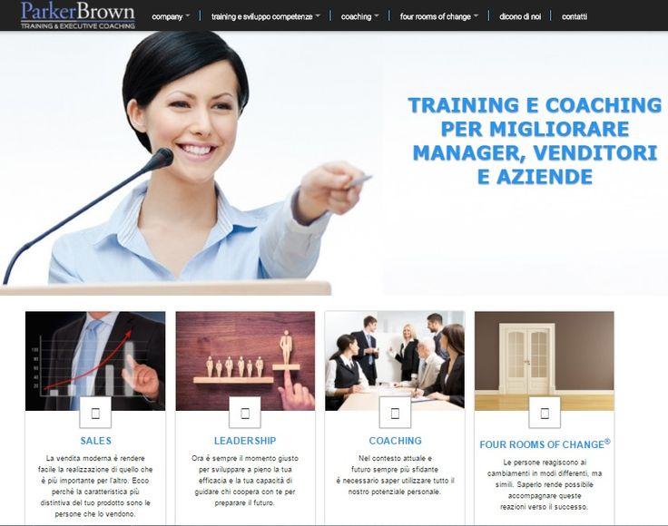 Sito internet della Parker Brown Consulting