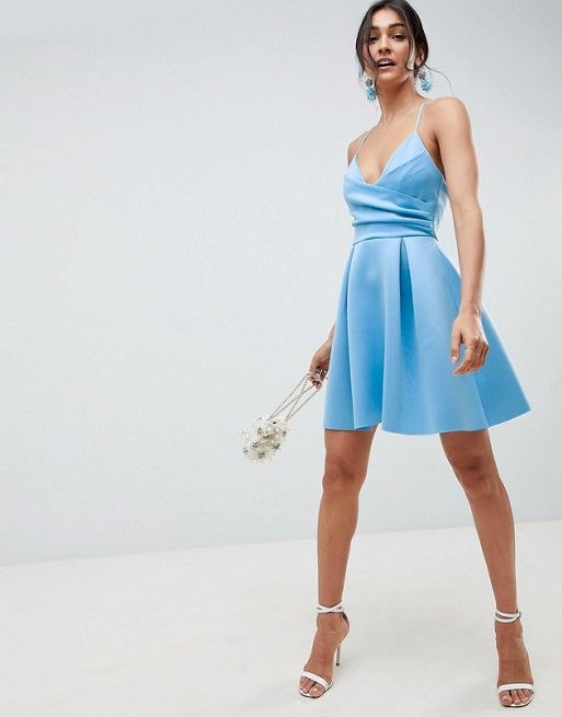 eb598c5da40 DESIGN Scuba Cami Prom Mini Dress   Wants   Mini prom dresses ...