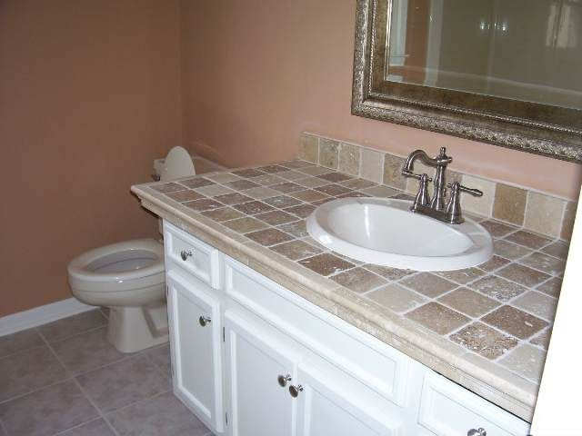27 best TILE COUNTERTOPS images on Pinterest  Bathrooms