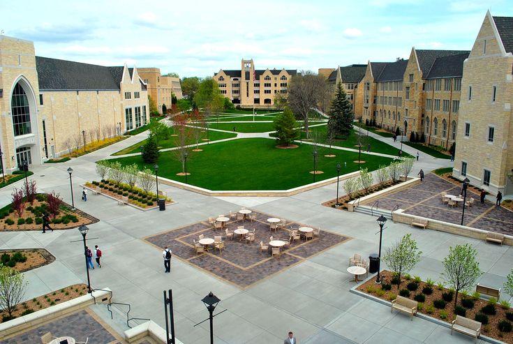 University Of St Thomas Asc Amp Plaza Landscape