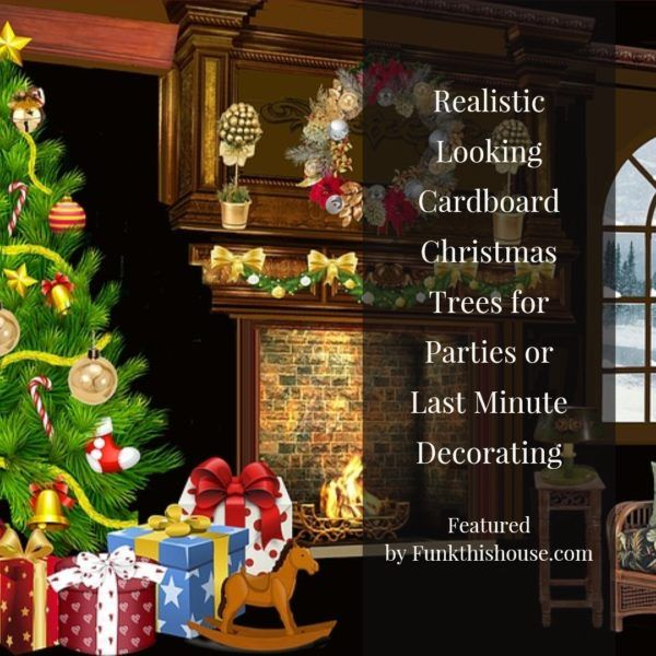 A Cardboard Christmas Tree Funky Decorating Made Easy Cardboard Christmas Tree Christmas Tree Christmas Decorations