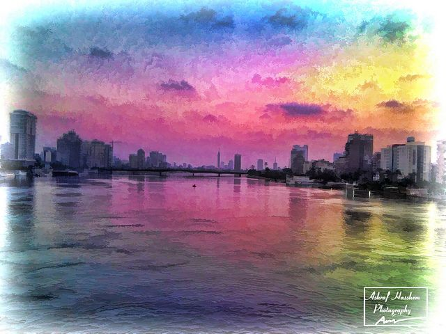 Cairo in the morning, the art of colors