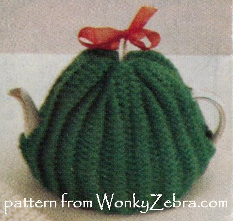 """WZ897 chunky easy """"learning"""" tea cosy pattern from a vintage Bazaar knitting pattern."""