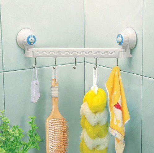Удобные угловые крючки для ванной комнаты-такую угловую  планку можно использовать в любой ванной комнате. Оригинально!
