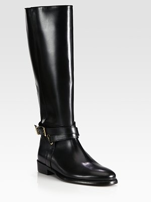 Burberry Leather Knee-High Riding Boots