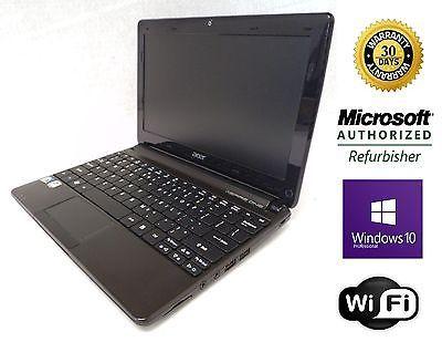 Acer Aspire One D270 Notebook. 4GB RAM. 320GB HD. Windows 10 Pro 64 Bit. Webcam.