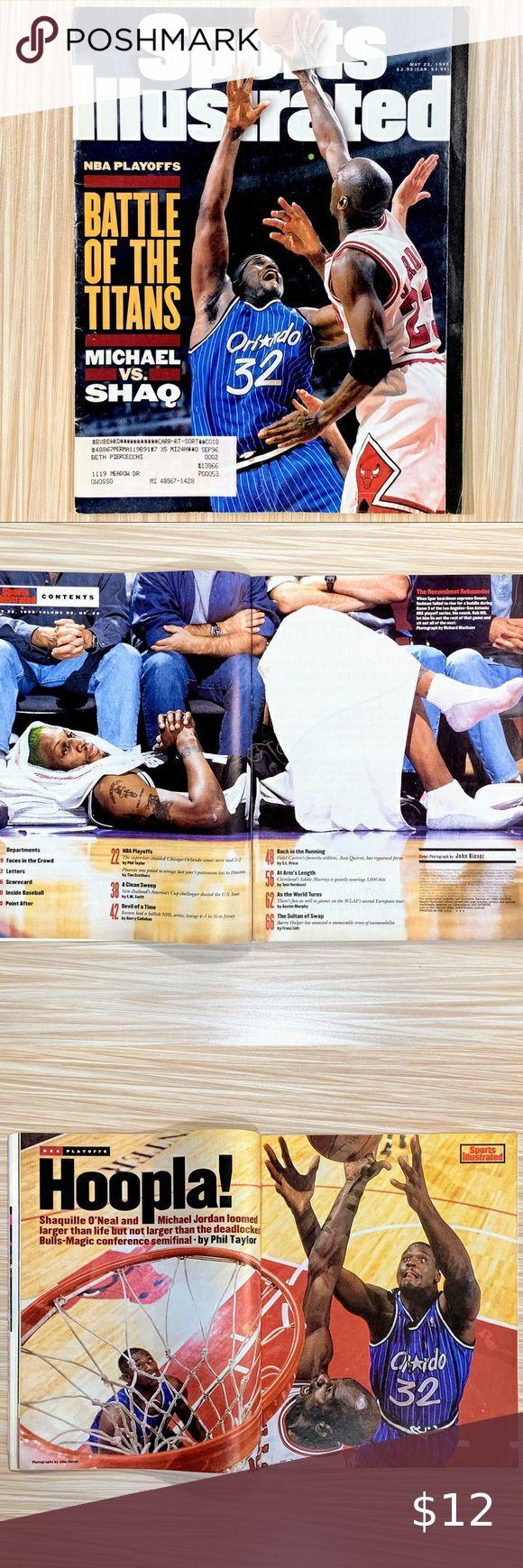 Sports Illustrated May 1995 Jordan Vs Shaq Battle Sports