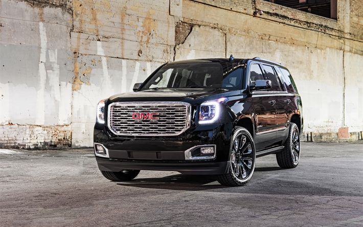 Download wallpapers GMC Yukon Denali, 4k, 2018 cars, SUVs, new Yukon Denali, luxury cars, GMC