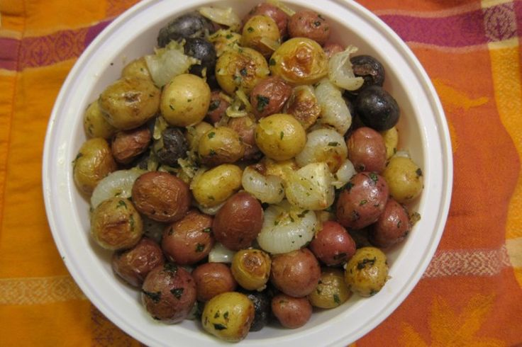 Thanksgiving Potluck Perfection: Roasted Baby Potatoes with Cippolini Onions