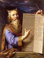 Philippe de Champaigne, Moïse présentant les tables de la Loi 1645-1663, huile sur toile, Amiens, Musée de Picardie © Musée de Picardie / Marc Jeanneteau