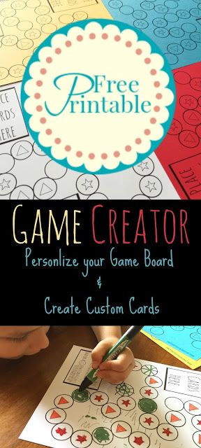 Boredom is not an option!  Let your kiddos create their own personalized board game with this game creator free printable.