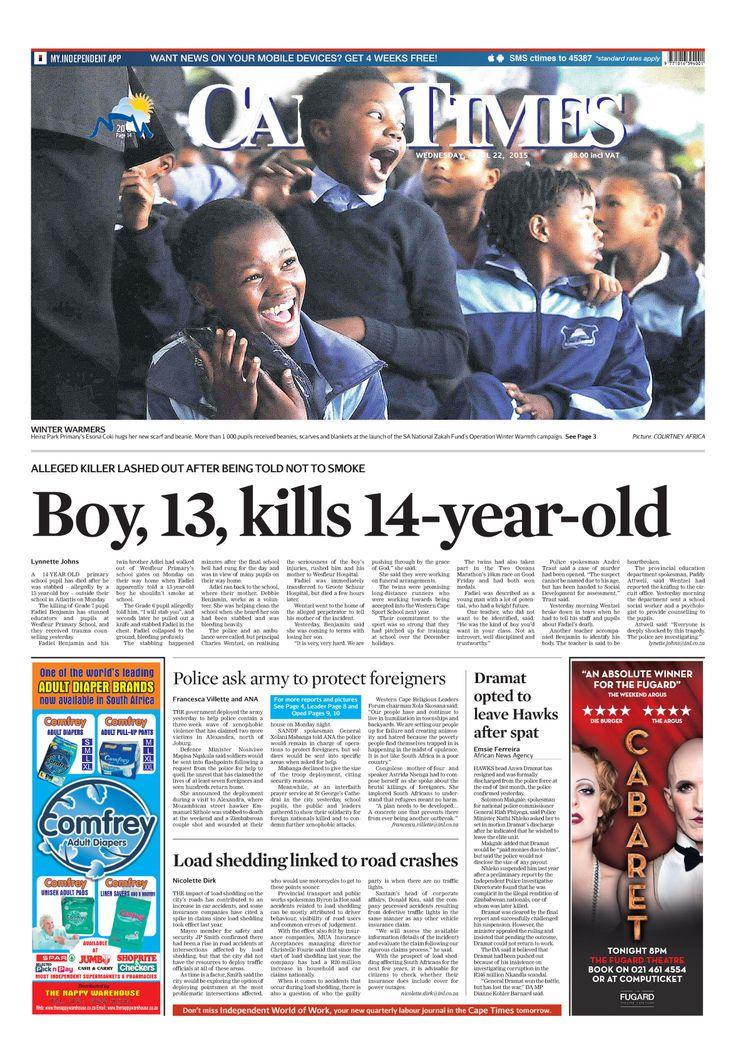 News making headlines: Boy, 13, kills 14-year-old
