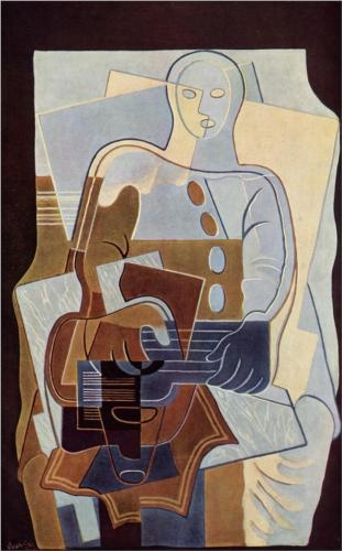 Pierrot with Guitar - Juan Gris