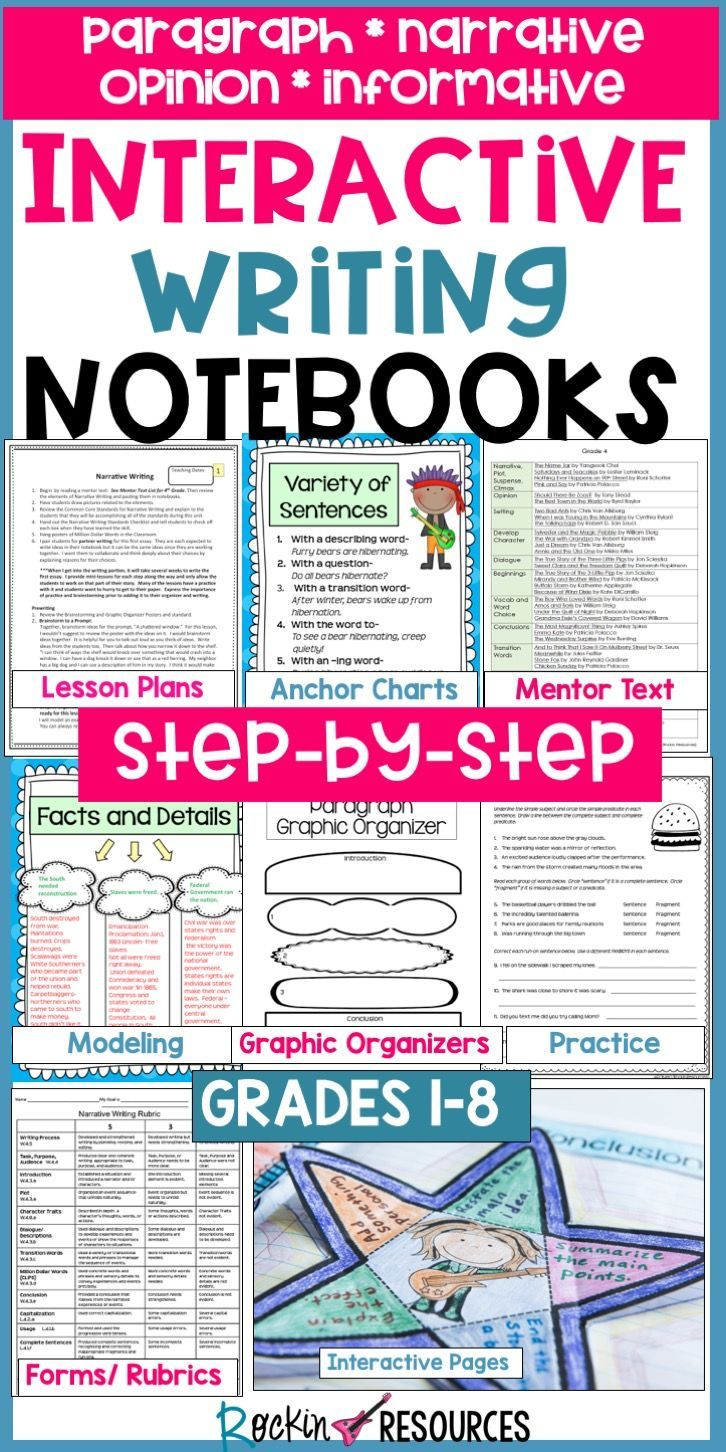 ★★★BEST SELLER★★★ This STEP-BY-STEP INTERACTIVE WRITING NOTEBOOK MOTIVATES STUDENTS and BOOSTS TEST SCORES! It is a COMPLETE WRITING WORKSHOP program with step-by-step...