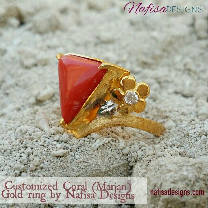 Triangle Coralin 21kt gold by Nafisa Designs