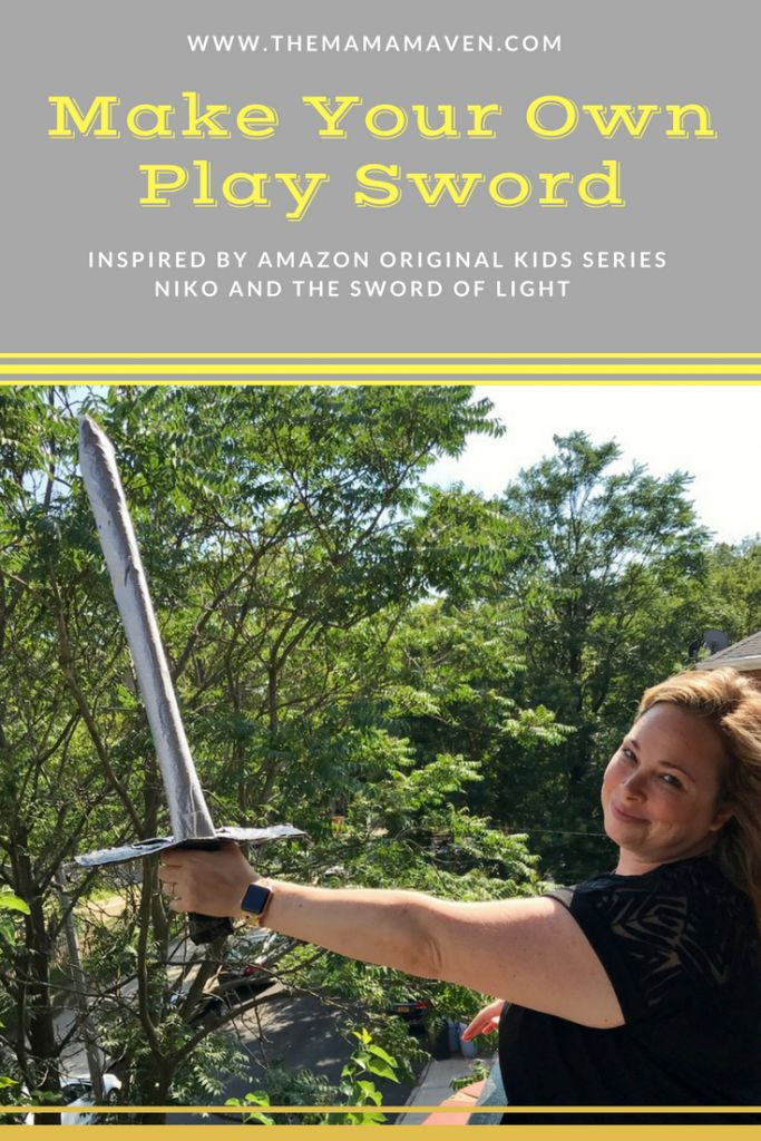 Make Your Own Play Sword + Niko and the Sword of Light Premieres on Amazon Video #AD | The Mama Maven Blog