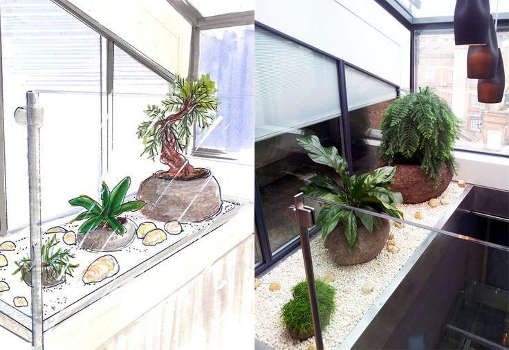 Réalisation d'un patio - Avant/Après