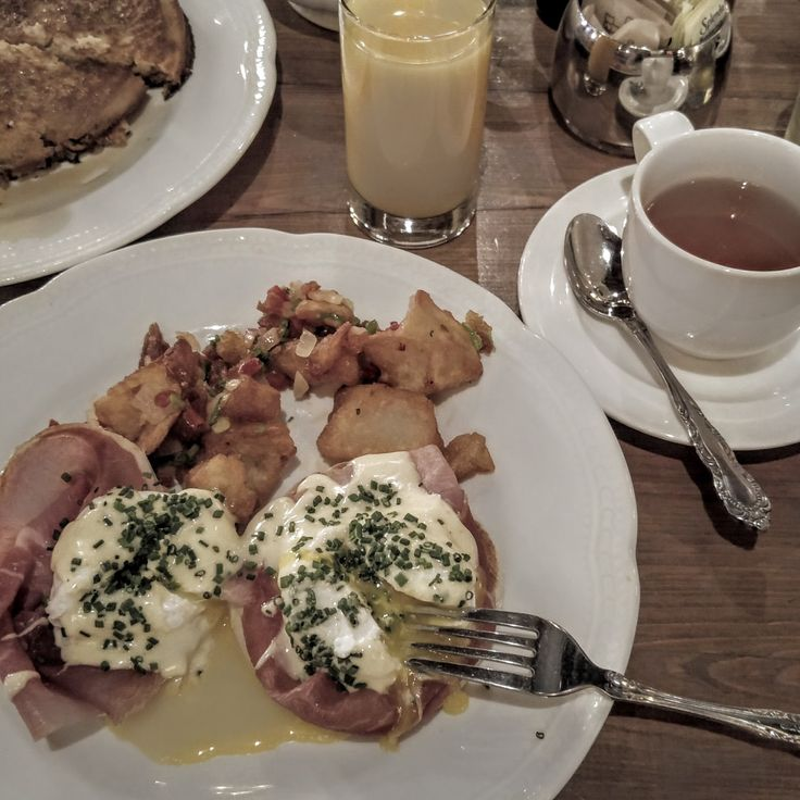Eggs Benedict for breakfast at The Ludlow Hotel