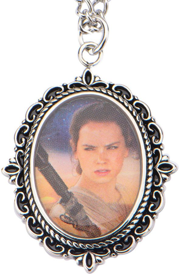FINE JEWELRY Star Wars Stainless Steel Rey Cameo Pendant Necklace