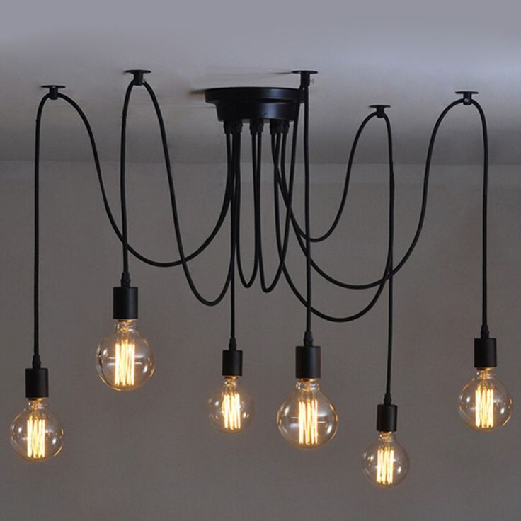 E27 60W Bulb Ceiling Lamp Fixture Art Deco Vintage Kitchen Living Room Deco Bulb fixtures For Pendant Light Lamp Drop Shipping