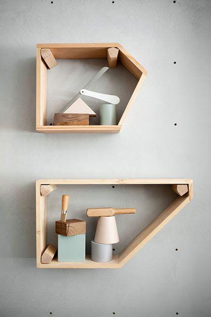 Pegboard shelves....... OUI . OUI: STUDIOPEPE