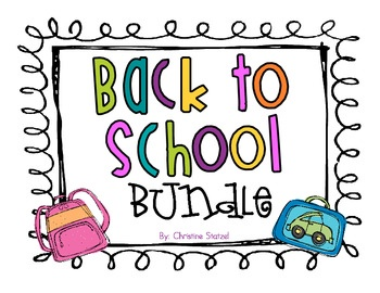 Everything you need to get you ready for back to school!Bundle Pack, Schools Ideas, Schools Stuff, 1St Weeks, Teachers Ideas, Schools Bundle, Classroom Ideas, Schools Years, 1St Grade